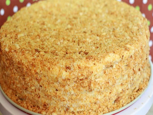 Наполеон сметанный торт рецепт с пошагово в домашних условиях