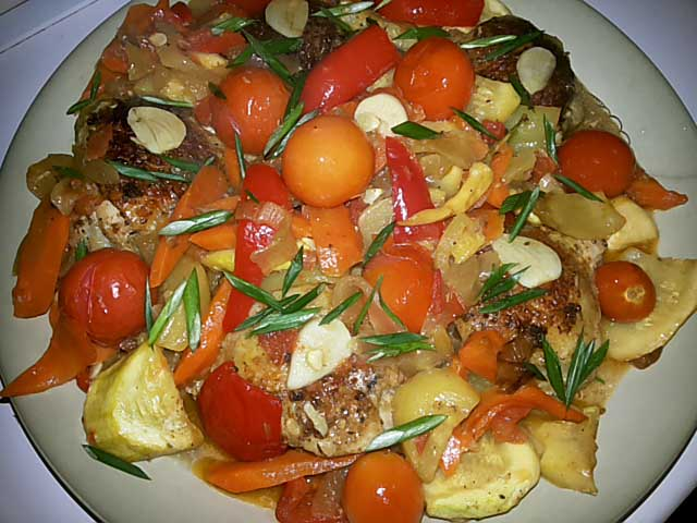 Рецепты курицы с овощами с пошаговыми
