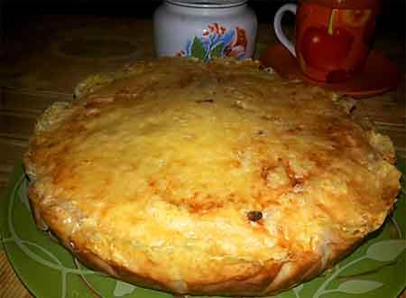 Заливной пирог без яиц с капустой на кефире рецепт с в духовке