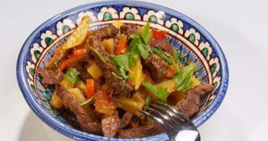 Азу по — татарски с солеными огурцами, пошаговый рецепт с фото и видео