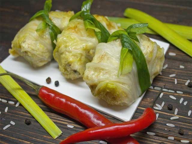 Голубцы из курицы и пекинской капусты рецепт с пошагово
