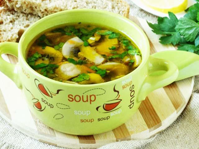 Супы из шпината свежегоы
