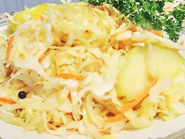Квашеная капуста рецепт классический пошагово