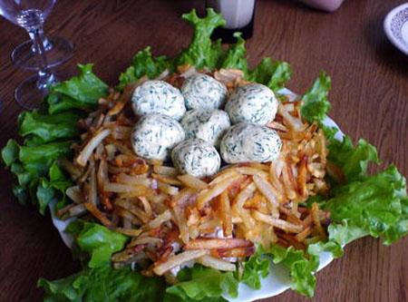 """Гнездо глухаря""-салат"