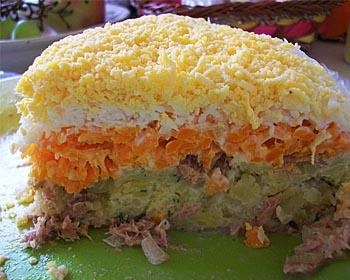 порция салата мимоза