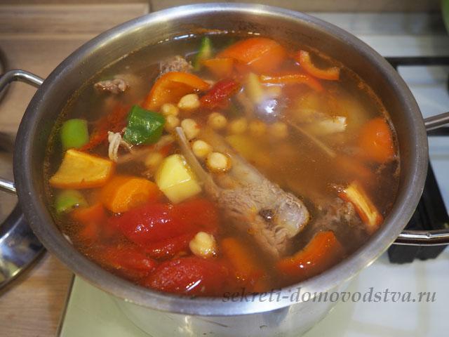 Шурпа из баранины — классический пошаговый рецепт