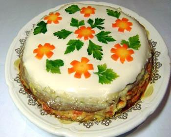 Печеночный торт