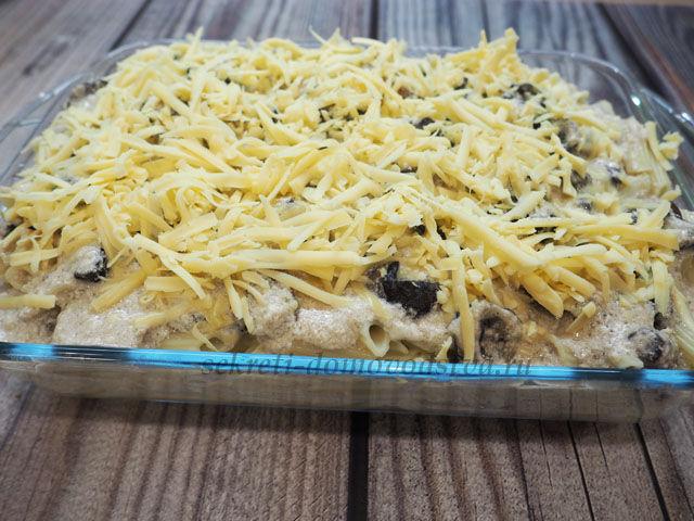 Курица с макаронами в сливочном соусе — рецепт в духовке