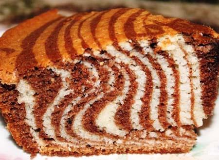 рецепт пирога зебра с фото