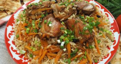 Настоящий узбекский плов с курицей — пошаговый рецепт приготовления