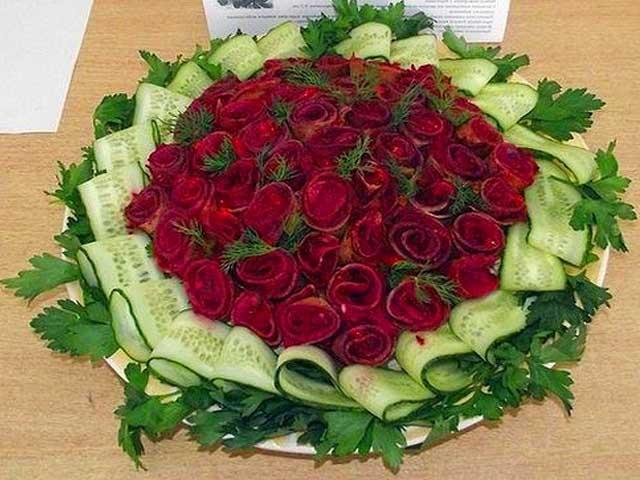 розы для любимого салат рецепт с фото