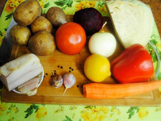 классический рецепт борща с пампушками пошаговый рецепт