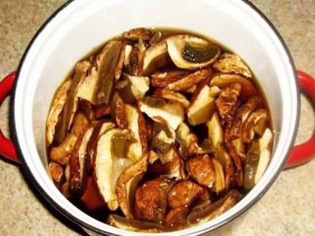 Вкусный суп с сушеными грибами