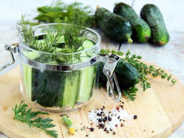 Малосольные огурцы - 7 рецептов быстрого приготовления