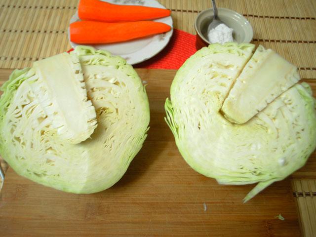 засолить вкусно капусту рецепт с фото