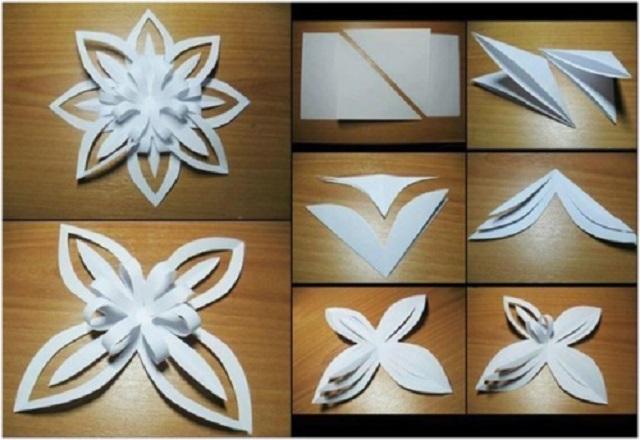 Схемы снежинки из бумаги схемы объемные