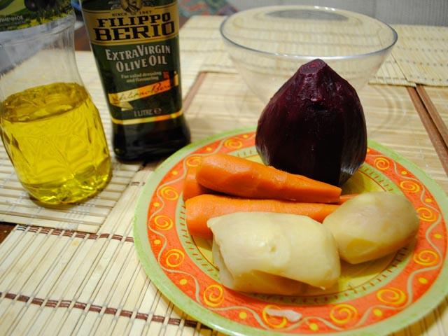 Рецепты классического винегрета и винегрета с горошком, секреты