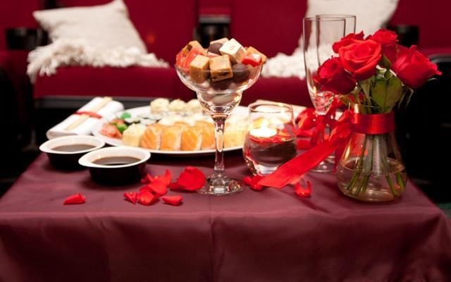 Романтический ужин 14 февраля на день Валентина.