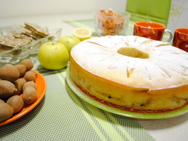 Тесто для шарлотки на кефире