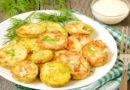 Кабачки в кляре жареные на сковороде с чесноком