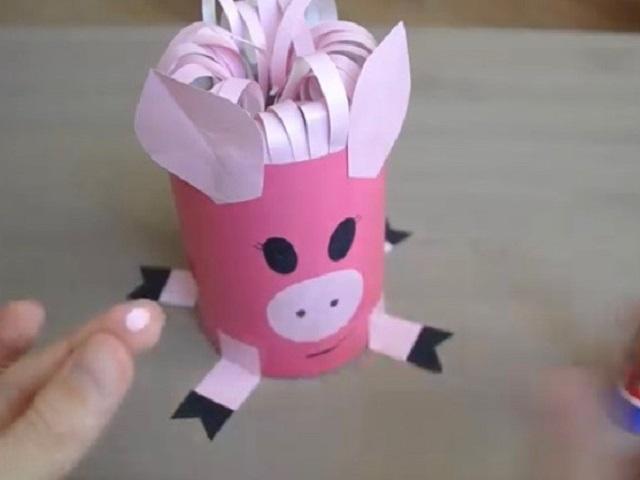 delaem_mordochky Символ года 2019 Свинка Поросенок своими руками фото