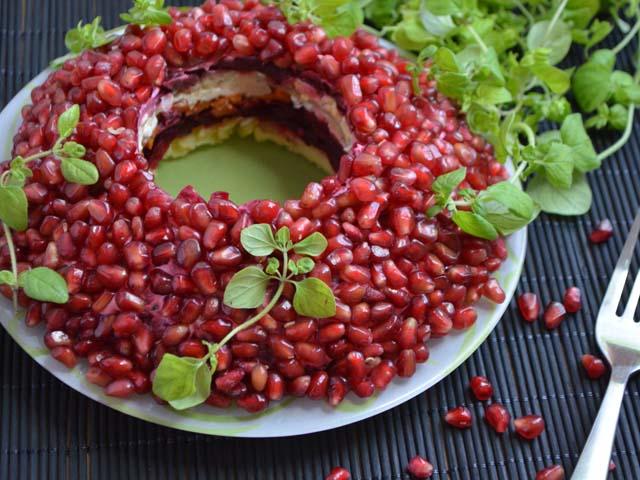 Салат Гранатовый браслет — очень вкусные классические рецепты