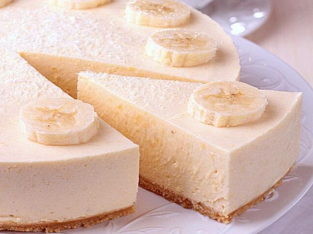 Чизкейк с бананом и творогом без выпечки и маскарпоне 5