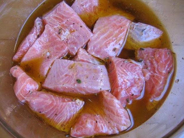 Рецепт кеты на мангале - 6 пошаговых фото в рецепте