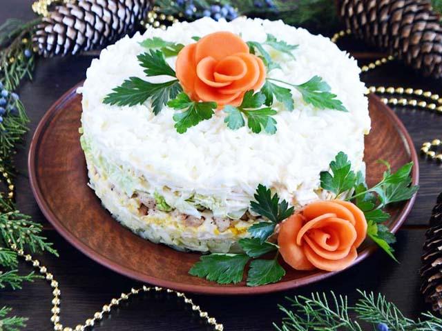 Невеста салат классический рецепт с фото пошагово