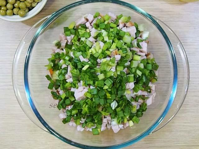 Салат; Белая крыса; — рецепт новогоднего салата для 2020 года