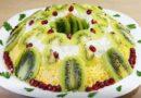 Салат «Малахитовый браслет» — классический рецепт приготовления с киви