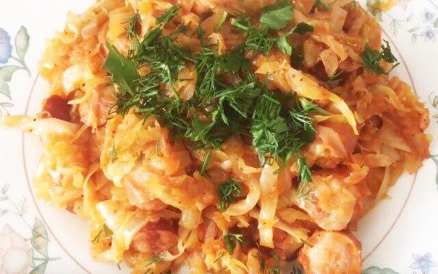 Бигус из свежей капусты с мясом и колбасой рецепт с фото пошагово