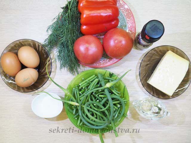 Чесночные стрелки с яйцом — пошаговый рецепт