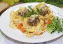 Гнезда из макарон с фаршем — рецепт в сковороде