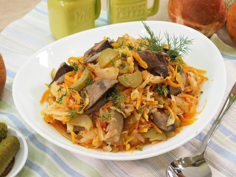 Грибная солянка с капустой — пошаговый рецепт приготовления